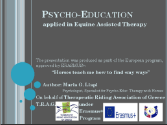 Psychoeducation applied in Equine Assisted Therapy